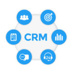 Icon showing benefits of CRM systems